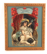 Banner Flour Victorian Lithograph Die Cut, Steeleville, Illinois Milling Co., Circa 1910