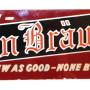Stern Brau Reverse on Glass Sign, Star Peerless Brewing Co, Belleville, IL. Circa 1940's