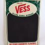 Vess Billion Bubble Beverages Tin Menu Board, 1950