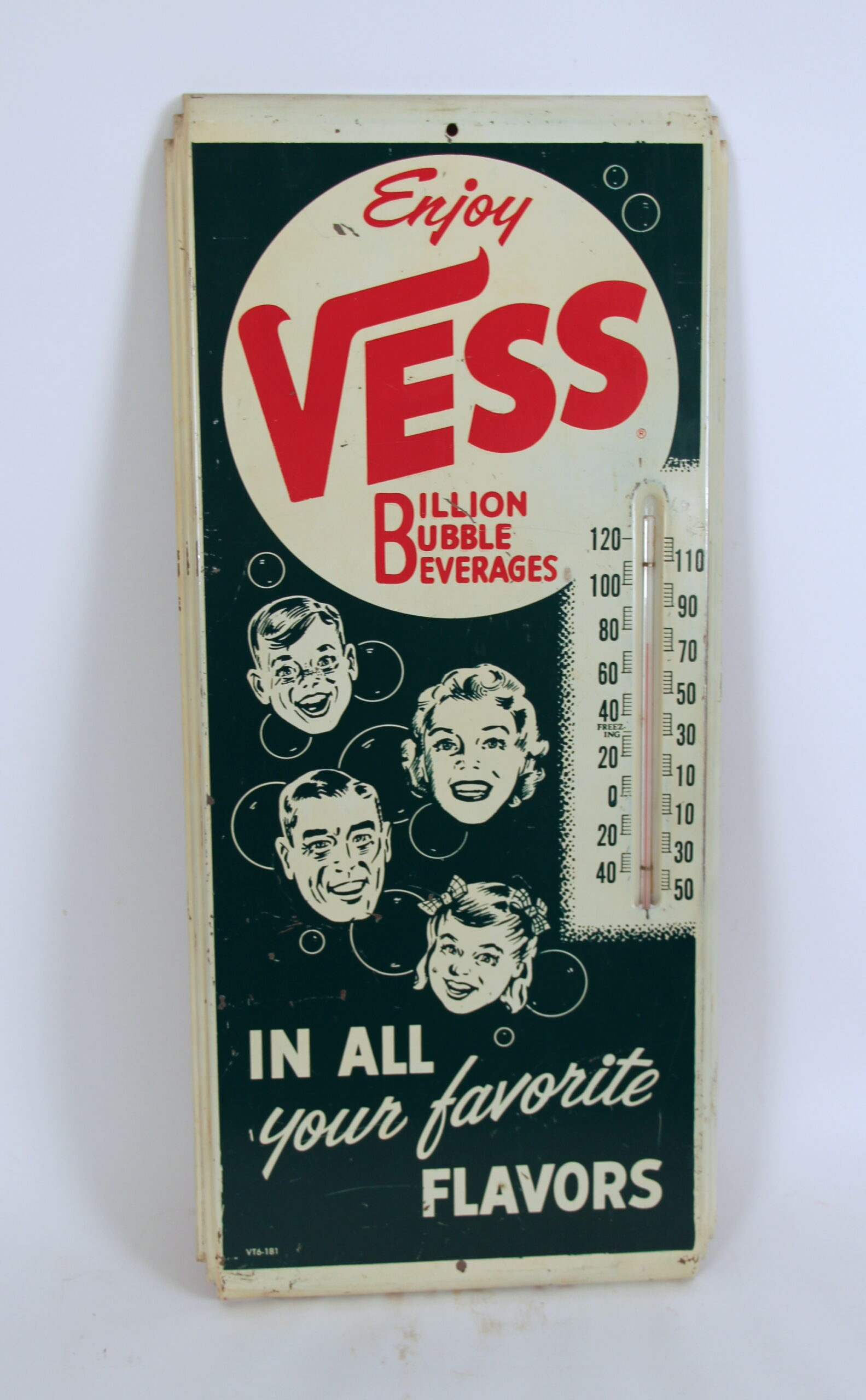 1940's Vess Metal Soda Thermometer