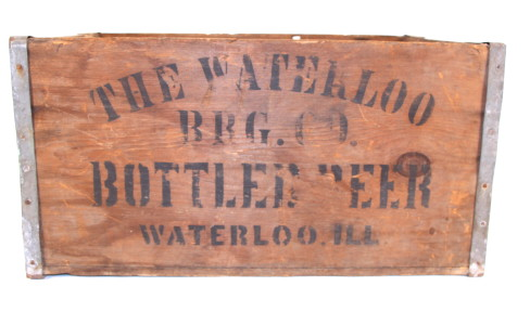 Waterloo Brewing Co, Wood Beer Box, Waterloo, IL. Circa 1910