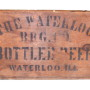 Waterloo Brewing Co, Wood Beer Box, Waterloo, IL. Circa 1910
