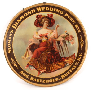 Sloman's Diamond Wedding Whiskey Tin Sign
