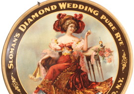 Sloman's Diamond Wedding Whiskey Tin Sign