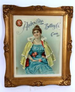 Andrew Lohr Bottling Co. Framed Lithograph 1900
