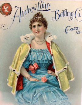 Andrew Lohr Bottling Co. Lithograph 1900
