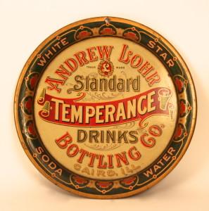 Andrew Lohr Temperance Drinks Serving Tray, 1900