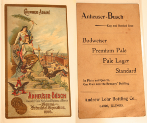Andrew Lohr Anheuser- Busch Trade Card, 1898