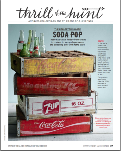 Antique Advertising Expert in Country Living Magazine July/ August 2015