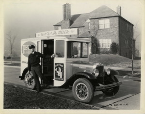 Pevely Dairy Baby First Sign on Truck, 1932