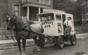 Pevely Dairy Baby First Sign on Delivery Wagon, 1910