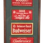 Anheuser Busch Budweiser, Grape Bouquet, Malt Syrup Cardboard Signs. Circa 1915