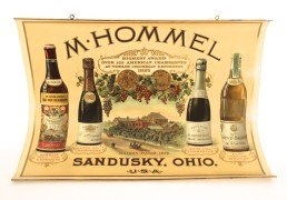 M. Hommel Champagne & Wine Company, Sandusky, OH.   Lithographic Poster, Circa 1900