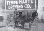 Terre Haute Brewing Co Horse Drawn Wagon, Circa 1910