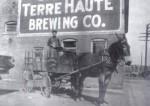 Terre Haute Brewing Co Horse Drawn Wagon, Circa 1910