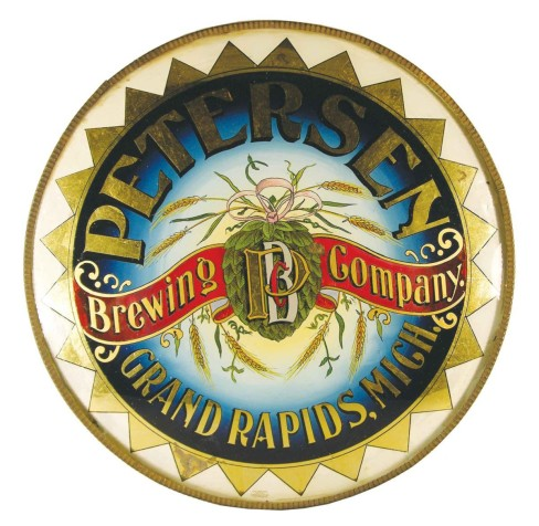 Petersen Brewing Company, Grand Rapids, MI. ROG Corner Sign, Circa 1905