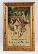 Grape-Nuts Self Framed Tin Sign, Circa 1910
