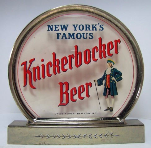 Knickerbocker Beer Cash Register Lighted Sign, Jacob Ruppert Brewery, New York, NY