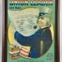 Union Leader Cut Plug Uncle Sam Cardboard Sign, Circa 1900