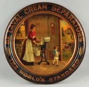 De Laval Cream Separators Round Advertising Sign, Circa 1900