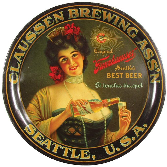 Clausen Brewing Assn. Serving Tray, Seattle, WA