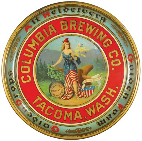 Columbia Brewing Co. Serving Tray, Tacoma WA