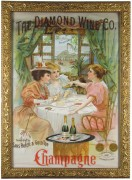 The Diamond Wine Company, Sandusky, OH Sans Pareil & Gold Top Champagne Lithograph.  Circa 1900
