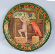 Red Raven Splits Tip Tray, Circa 1910