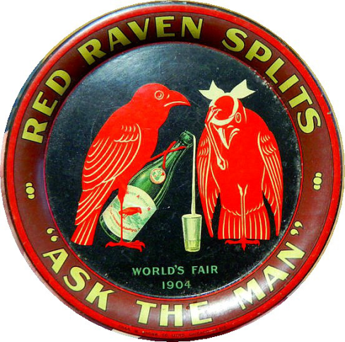 Red Raven Splits 1904 St. Louis Worlds Fair Tip Tray