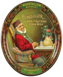 Ruhstaller Brewery Serving Tray, Sacramento, CA. Circa 1905