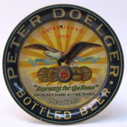 Peter Doelger, New York, N.Y., Tip Tray Bottled Beer