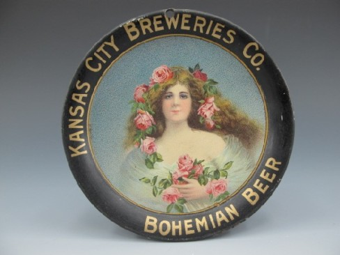 Kansas City, Breweries , Bohemian Beer,, Tip Tray, K. C. , MO. Circa 1910