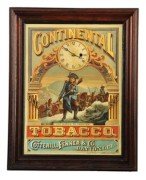 CONTINENTAL TOBACCO CARDBOARD SIGN, COTTERILL, FENNER & CO, DAYTON, OH.  Circa 1910
