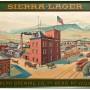 Reno NV Brewing Co. Reno, Nevada. Self Framed Tin Sign, Circa 1900