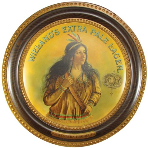 Wielands Extra Pale Lager Self-Framed Tin Sign, San Francisco, CA. Circa 1900