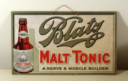 Blatz Malt Tonic Cardboard Sign, Milwaukee, WI. Circa 1920