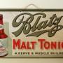 Blatz Malt Tonic Cardboard Sign, Milwaukee, WI. Circa 1920