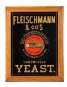 Fleischmann & Company, Compressed Yeast Sign.  Circa 1905