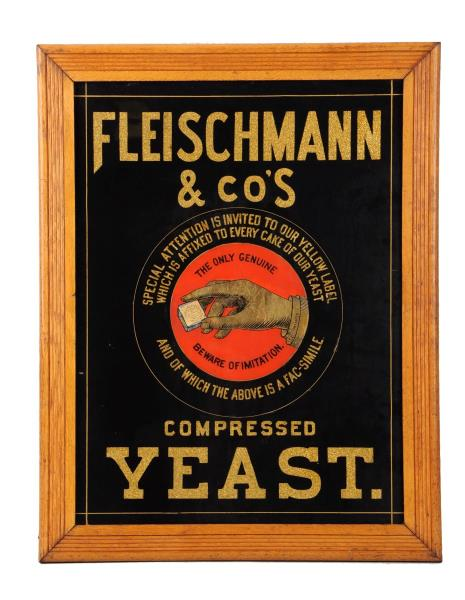 Fleischmann & Co.'s Compressed Yeast Sign. Circa 1905