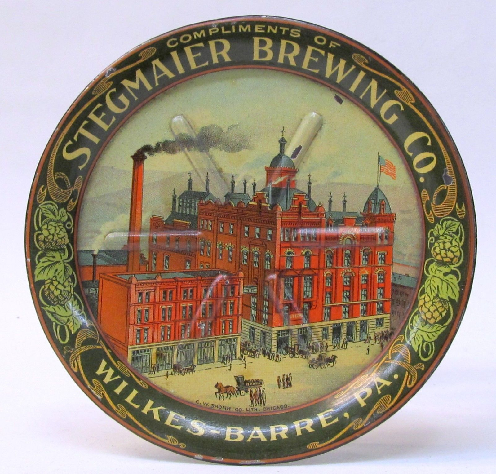Stegmaier Brewing Co. Wilkes-Barre, PA. Tip Tray. Circa 1910
