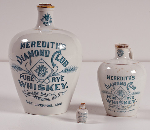 Meredith's Diamond Club Whiskey Rye Jugs