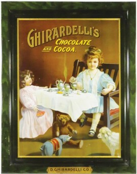 Ghiardelli Chocolate & Cocoa Self Framed Tin Sign, San Francisco, CA. Circa 1900