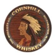 CORNHILL WHISKEY TRAY, CASPER HEIL BREWING CO.  Circa 1910