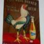 Columbia Brewing Co., Banner Beer, The Cock of the Bar. Meyercord Beer Sign. Circa 1905