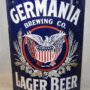 Germania Brewing Co., Porcelain Lager Beer Corner Sign, Buffalo N.Y. Circa 1900