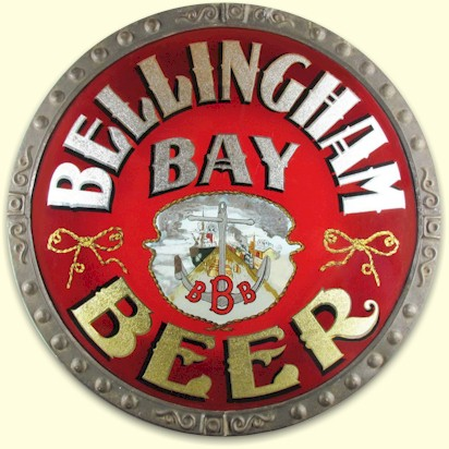 Bellingham Bay Brewing Co. ROG Corner Sign, Bellingham, WA. Circa 1900