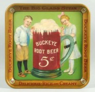 BUCKEYE 5 CENT ROOT BEER SERVING TRAY