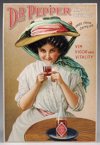 Dr Pepper Tin Sign, Schonk Sign Co. Circa 1895