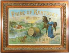PRIDE OF KENTUCKY WHISKEY, WEIDEMAN-HOLMES CO., CLEVELAND, OH.  Circa 1900