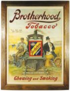 BROTHERHOOD TOBACCO SIGN, P. LORILLARD TOBACCO CO.